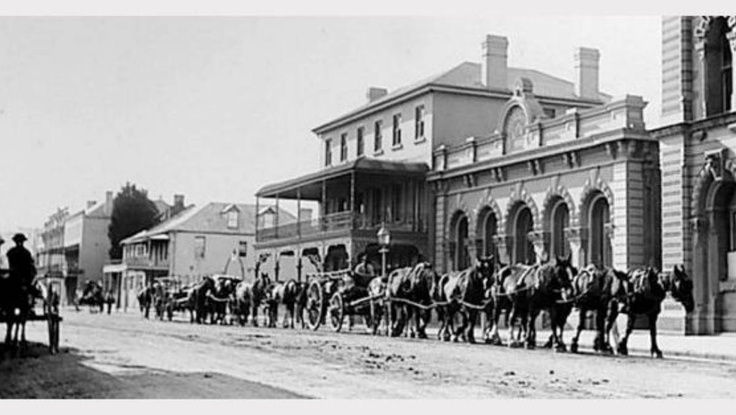 DAYS GONE BY: A parade makes its way up High Street, Maitland.