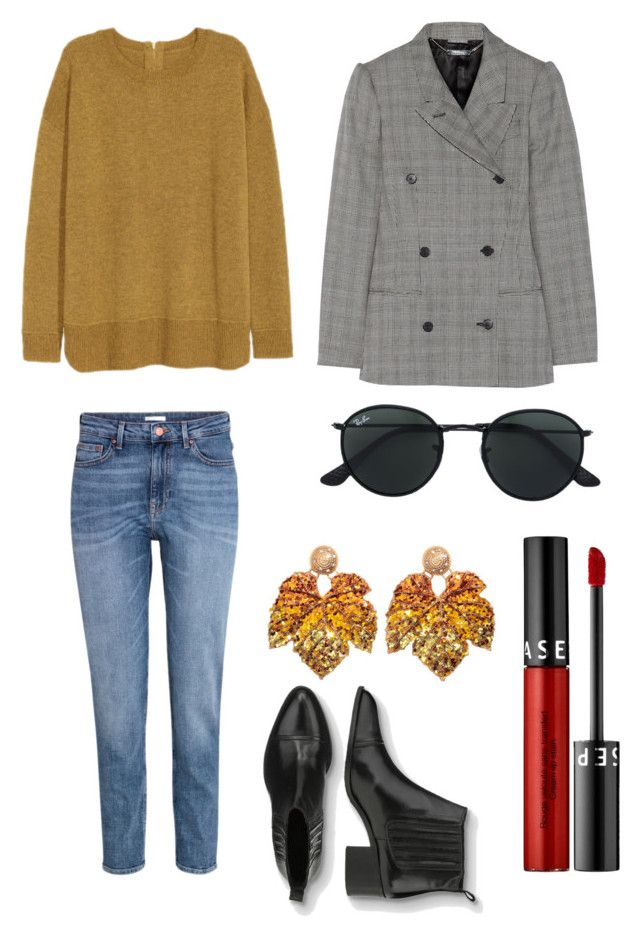 """""""Untitled #220"""" by stinasolheim on Polyvore featuring H&M, Alexander McQueen, Sephora Collection and Ray-Ban"""