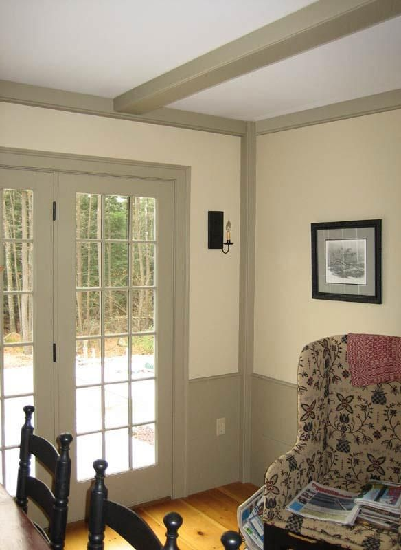Classic colonial homes interior beam detail colonial for Colonial house inside