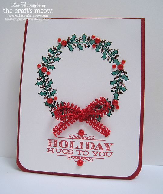 TCM Oct 21 Blog Hop by quilterlin, via Flickr sentiment from Holiday Poinsettia, brackets from Inside Christmas