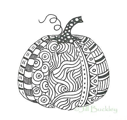 pumpkin zentangle