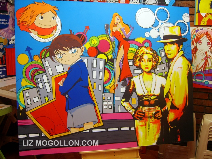Title: Amazing street (#Manga Pop Art)  by: Liz Mogollon  Acrylic on canvas