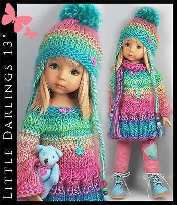 COLORFUL-Outfit-BEAR-for-Little-Darlings-Effner-13-by-Maggie-Kate-Create. Ends 9/14/14. SOLD for $179.01