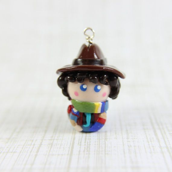 Doctor Who inspired Fourth Doctor chibi charm by TrenoNights, $14.00 My first doctor! She's also got a bracelet of all 11 and a Tardis that is pretty awesome.