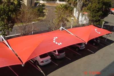 Cell C shadeport printing - printing on shade cloth.