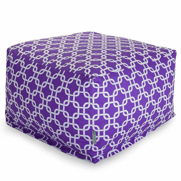 Cotton Large Ottoman Bean Bag Chair, Purple - Bean Bags > Bean Bag... (150 CAD) ❤ liked on Polyvore featuring home, furniture, purple furniture, beanbag furniture, purple bean bag and bean bag