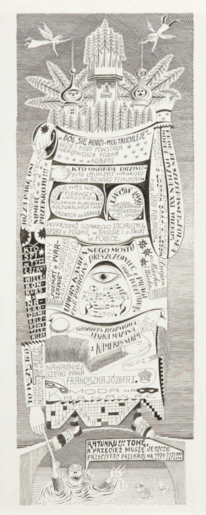 Daniel Mróz - Przekrój nr 2271-2272, 1988 r., ilustracja do czasopisma