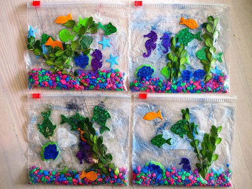 Craft Time {Aquarium In A Bag}