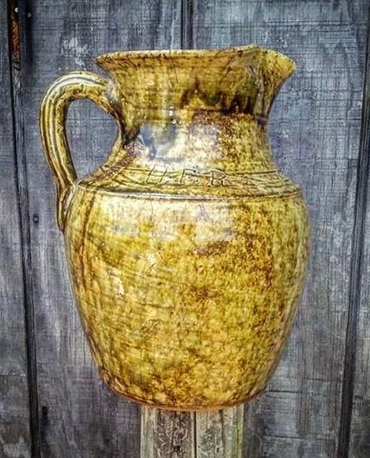 Harvey Ford Reinhardt... #pitcher #real #catawbavalley #pottery #nc #traditional #ceramics
