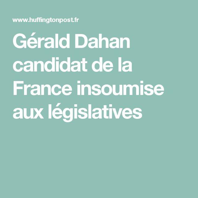 Gérald Dahan candidat de la France insoumise aux législatives