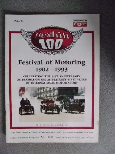 Bexhill 100 Festival Of Motoring Program 1902-1993 on eBid United Kingdom