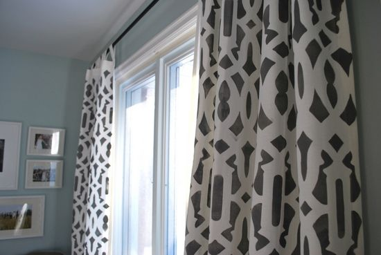 DIY stenciled curtains: Diy Ideas, Decor Crafts, Stenciled Curtains, Stencil Curtains, Diy Stencil, Diy Curtains, Diy Projects, Curtains Diycraft, Stencil Drop Clothing Curtains