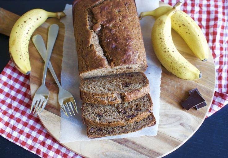 Bananbrød med mørk chokolade