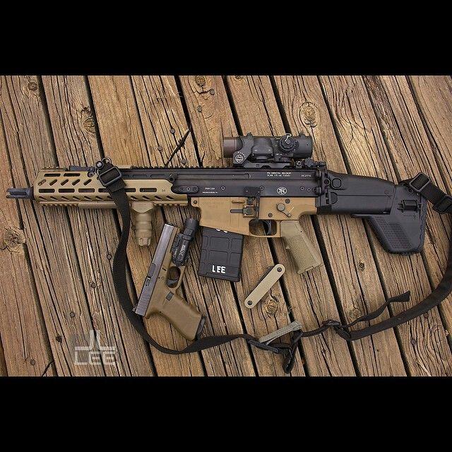 SICK!! repost from @jjlee84 The Seventeens @fnhusa SCAR 17 SBR & Glock 17…