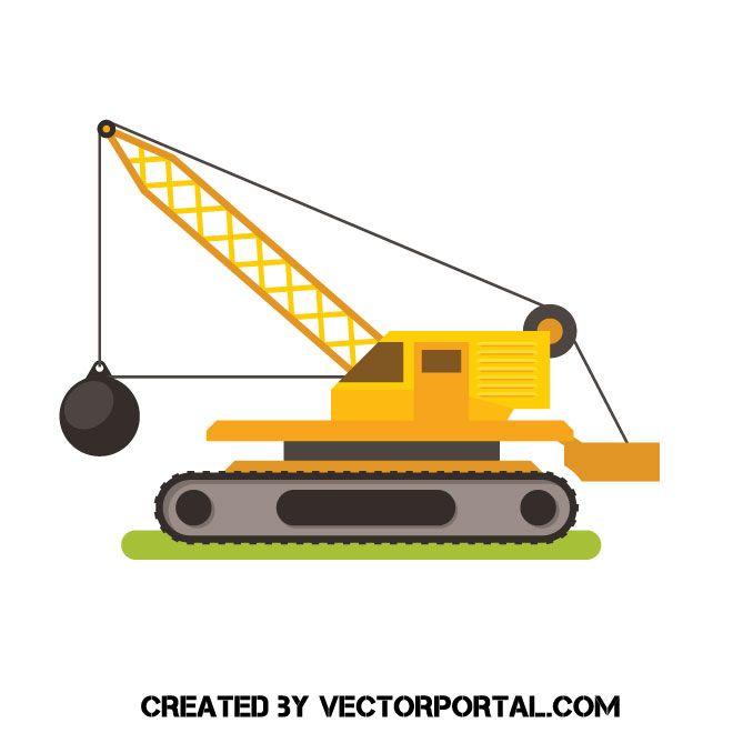Crane Free Vector Clip Art Vector Free Wrecking Ball Free Vector Images