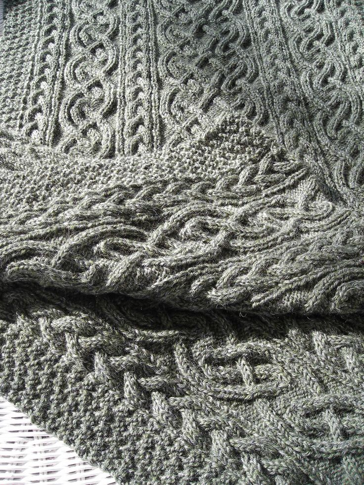 Blanket using cables from Alice Starmore's St. Brigid cardigan http://www.ravelry.com/patterns/library/st-brigid