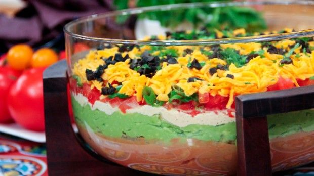 5 Layer Mexican Dip | Steven and Chris | Young and the Restless star Melody Thomas Scott shares one of her favourite recipes, her five-layer Mexican Dip.