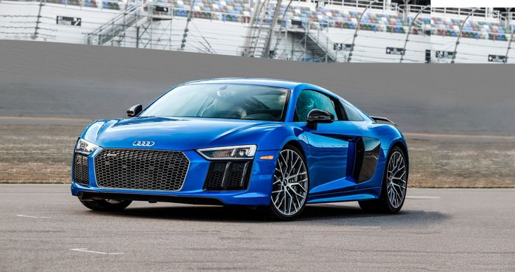 AUDI R8 $164,150  ● The all-new R8 ditches the pretense of keeping a respectful distance from its VW Group cousin, the Lamborghini Huracán. Audi's optional 610-hp V-10 matches the Lamborghini's power, and its 205-mph top speed will rule the autobahn. But next to Italian braggadocio, the R8 is German modesty—tasteful, restrained, and clearly the product of a company that's won Le Mans about a zillion times. The Audi is still supercar excess, but the kind that just wouldn't look right painted…
