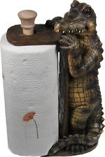 Standing Alligator Paper Towel Holder - Rivers Edge Cajun Swamp People Decor