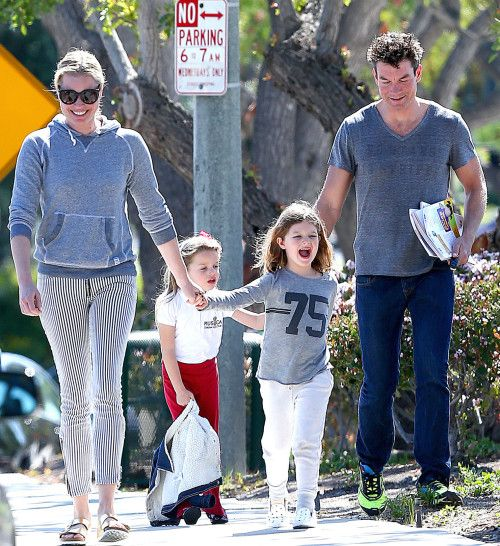 O'CONNELL TWINS:  Jerry O'Connell and Rebecca Romijn, parents of 6 year old TWINS, Dolly and Charlie.  Mum was married to actor John Stamos who plays Uncle Jesse from Full House.