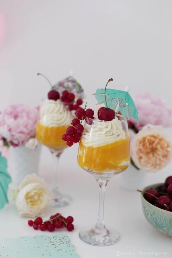 Mango-Cheesecake im Glas