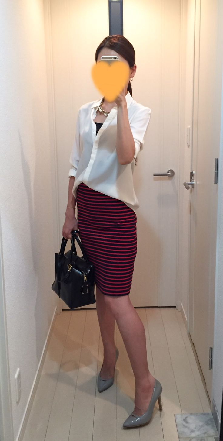 Silk Shirt: Tomorrowland, Skirt: allureville, Bag: Tod's, Heels: Pellico