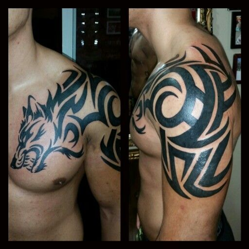 tribal chest tattoos - Google Search