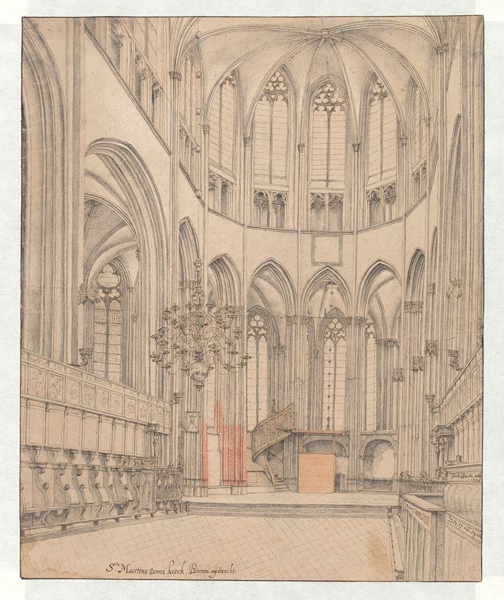 The Choir of Utrecht Cathedral, Pieter Saenredam, 1636 John and Marine van Vlissingen Art Foundation