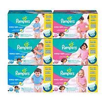 Pampers Easy Ups for Girls, Size 4, 2T-3T (16-34 lbs.), 100 ct.