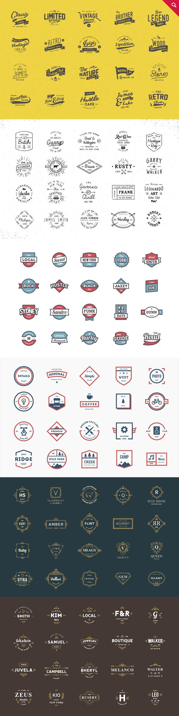 From retro to contemporary graphic design, this logo bundle has everything.