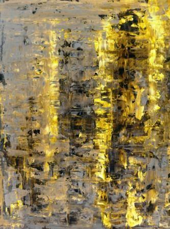 žlutý a béžový abstraktního umění, malířství