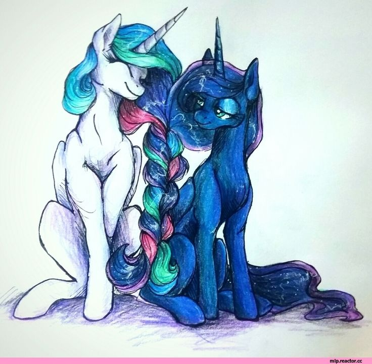 Princess Celestia,Принцесса Селестия,royal,my little pony,Мой маленький пони,фэндомы,Princess Luna,принцесса Луна,mlp traditional art,mlp art