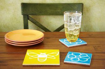 Repurposed Tile CraftsDiy Ideas, Diy Coasters, Crafts Ideas, Gift Ideas, Coasters Ideas, Tile Crafts, Repurposing Tile, Simple Gift, Tile Piece
