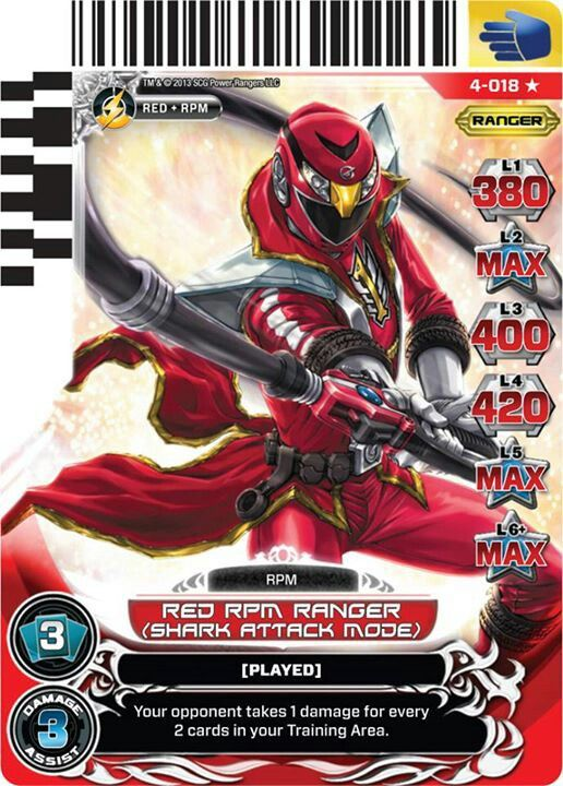 Red RPM Power Ranger trading card