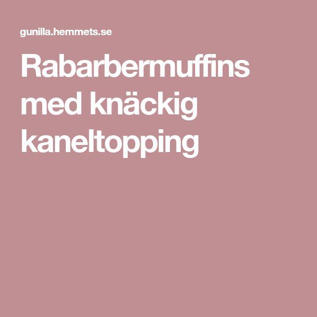 Rabarbermuffins med knäckig kaneltopping