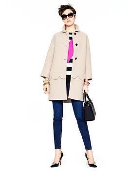 cute scalloped coat