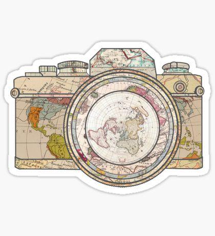 world camera Pegatina