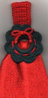 Christmas Wreath Towel Ring & Napkin Ring