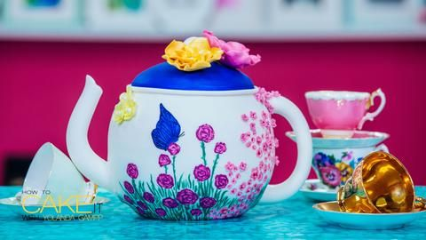 A Chocolate Teapot Cake Covered in Sugar Flowers Fit for a Mad Hatter' – HOW TO CAKE IT