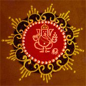 Diwali rangoli patterns and designs | via The Holiday Spot