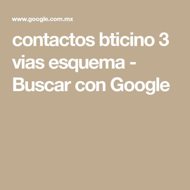 contactos bticino 3 vias esquema - Buscar con Google