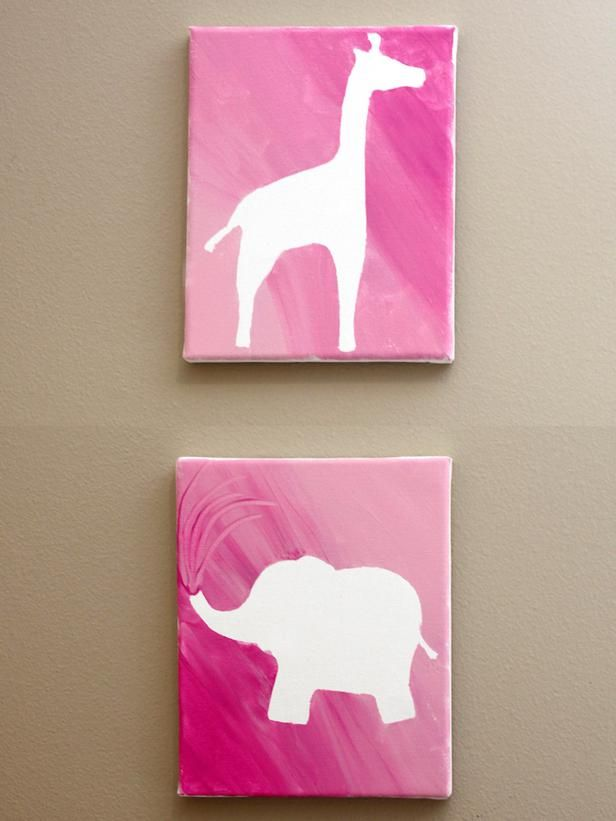 Spring Break Craft: Easy Silhouette Canvas Art >> http://www.diynetwork.com/decorating/how-to-make-silhouette-canvas-artwork-for-a-childs-bedroom/pictures/index.html?soc=pinterest#