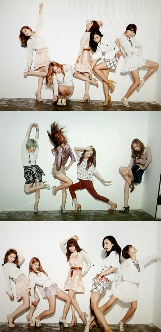 Amusing behind the scenes photos of Girls' Generation revealed