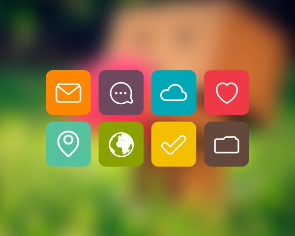 Flat Icons / Flat Design / Icons Design / Icons / Pictograms / Signs / Flat icons by Irena Taran, via Behance