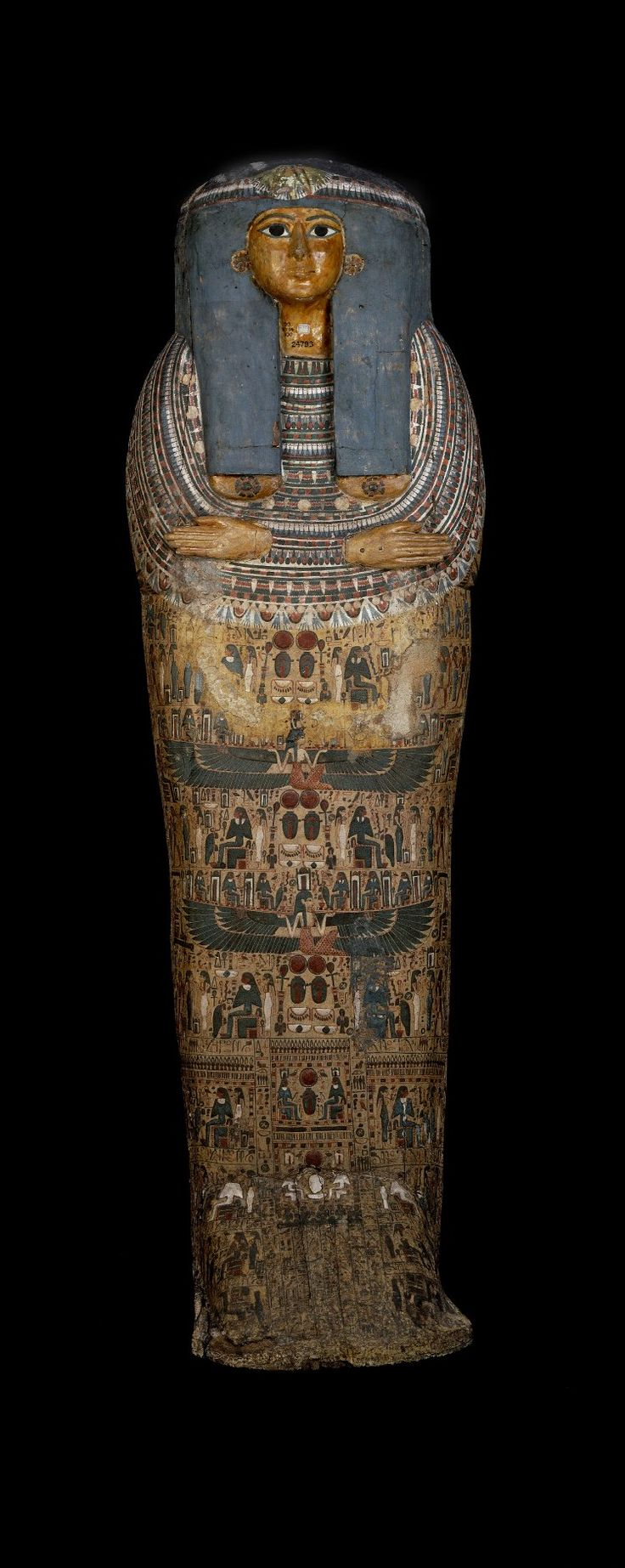 Wooden anthropoid coffin of Taihuty from Thebes (Egypt) 1077-943 BC (British Museum)
