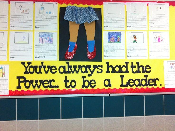 wizard of oz bulletin board ideas | Great bulletin board for Leader in Me!