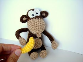 Amigurumi Monkey Pattern Crochet Monkey Pattern Includes Photos, Instructions and Pattern. Written in English. Finished Monkey is approx 6...