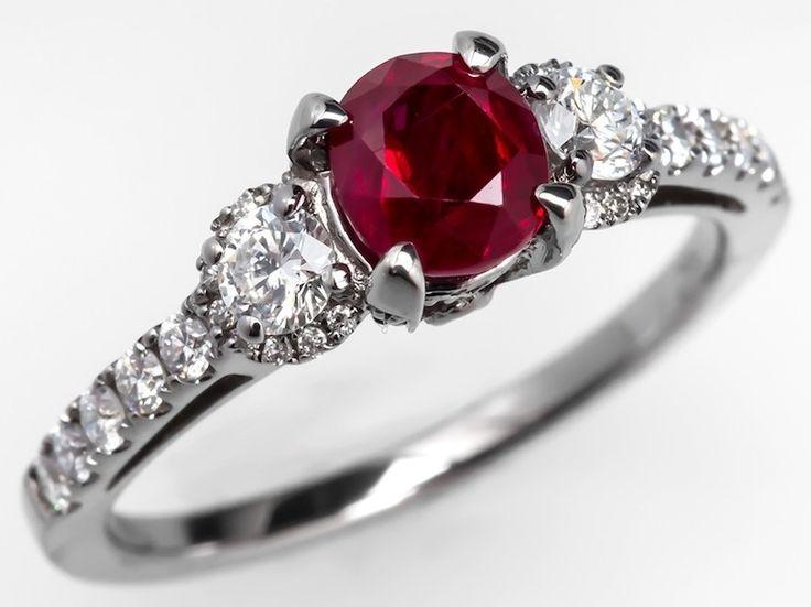 Graceful Ruby Wedding Ring