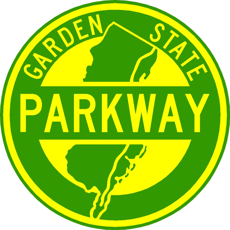 When ya see this logo, ya know the Garden State Parkway is near.  No trucks.  No Buses.  Just you and a quarter million other Jerseyans racing to the Jersey Shore beaches on a Friday afternoon after work.