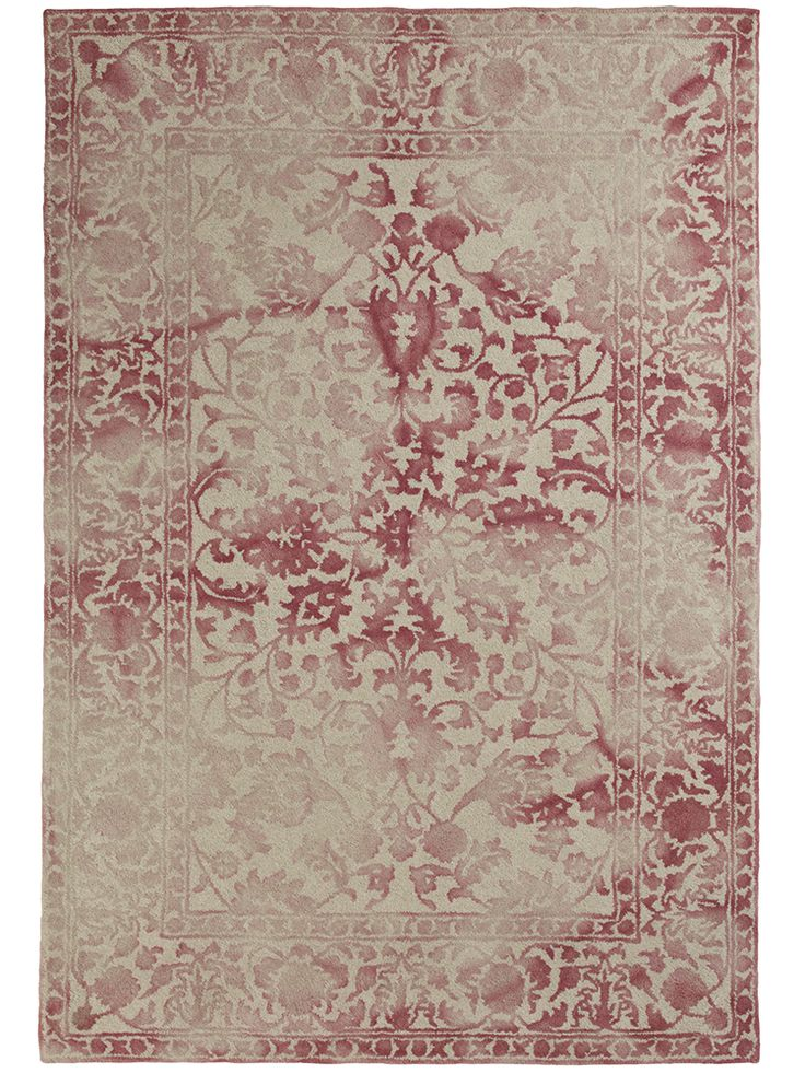 Woven from shades of light and medium pink to look just like a weathered antique piece, our 100% wool hand-tufted rug has a medium pile finish and is soft to the touch. With a traditional floral design, this visually stunning rug has a unique dip dye effect that will be different on each rug, creating an impressive centrepiece in your living space. Due to the size and weight of this item it is not currently available for international delivery. In exceptional circumstances please email…